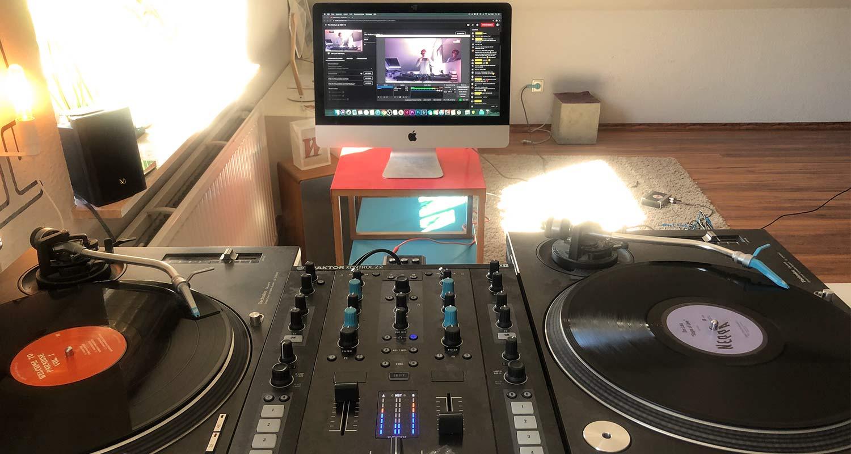 DJ Booth mit OBS und Youtube live