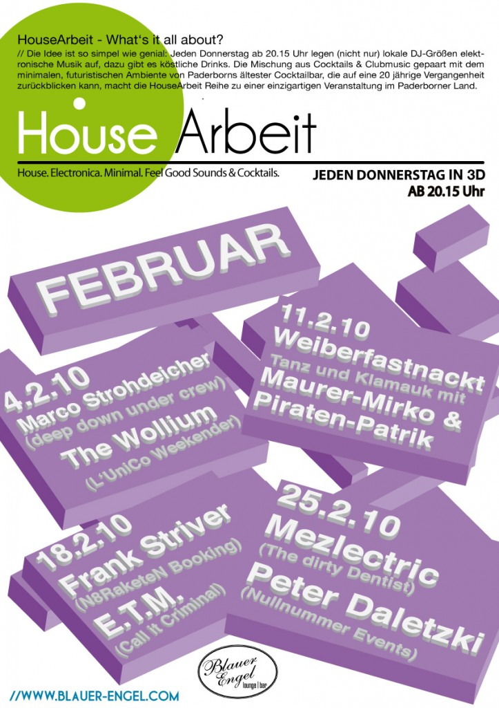HouseArbeit Februar Plakat