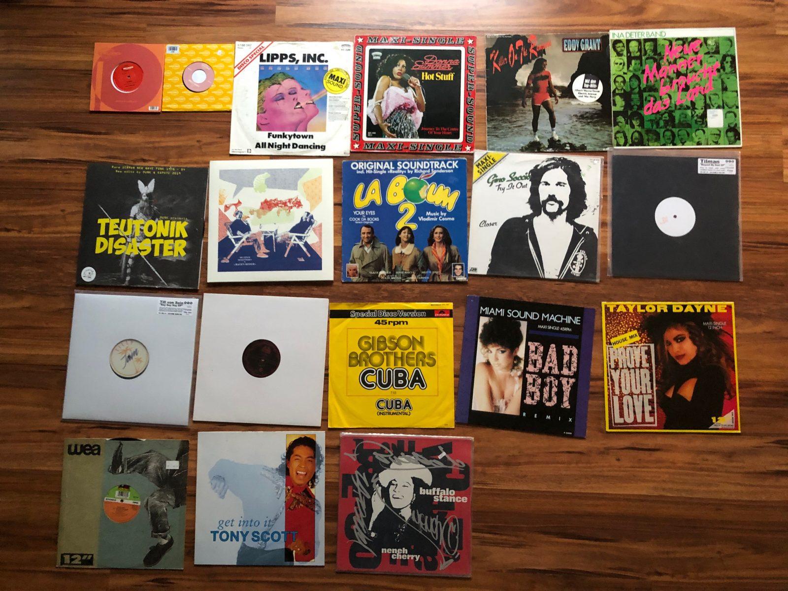 """Fast alle Vinyls, die ich auf """"Ich esse meine suppe nicht"""" DJ Mix gespielt habe"""