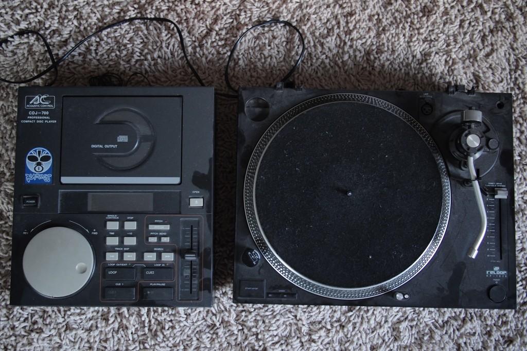 DJ Equipment von um die Jahrtausendwende.