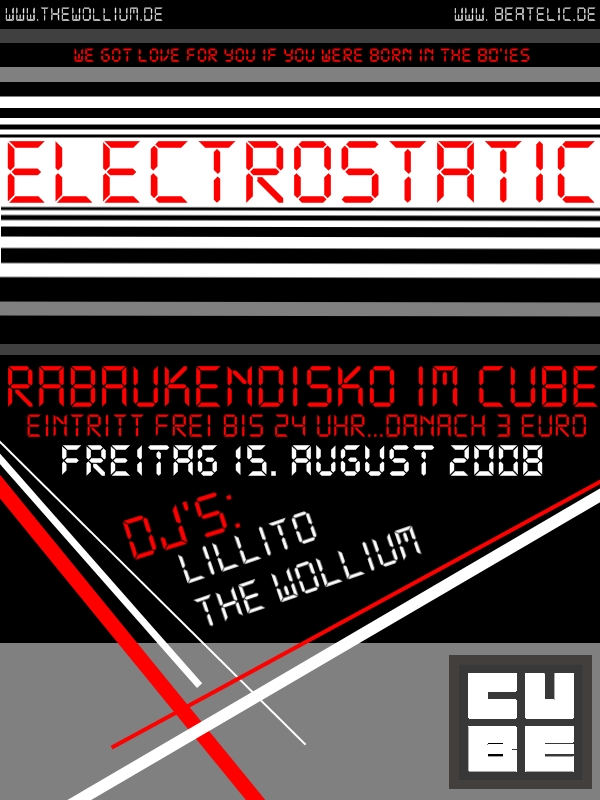 Electrostatic Flyer August